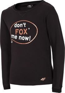Czarna bluza dziecięca 4F z bawełny