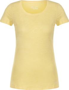 Żółty t-shirt Liu-Jo w stylu casual z bawełny