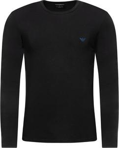 Czarna koszulka z długim rękawem Emporio Armani w stylu casual z bawełny z długim rękawem