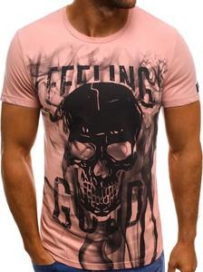 T-shirt producent niezdefiniowany z bawełny w młodzieżowym stylu z nadrukiem
