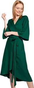 Zielona sukienka Lanti z dekoltem w kształcie litery v
