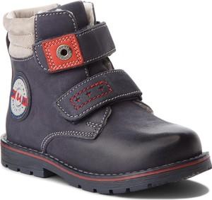 Buty dziecięce zimowe Lasocki Kids na rzepy z nubuku
