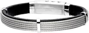Silverado Rockowa bransoleta męska z czarnej skóry 77-BA761B