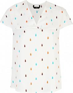 Bluzka Nife z dekoltem w kształcie litery v z krótkim rękawem