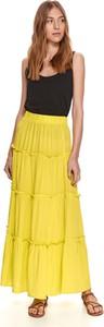 Żółta spódnica Top Secret midi