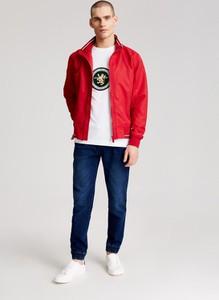 Czerwona kurtka Diverse w stylu casual z tkaniny