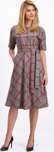 Sukienka Lavard z wełny midi z okrągłym dekoltem