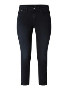 Granatowe jeansy MAC w stylu casual z bawełny