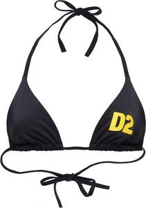 Czarny strój kąpielowy Dsquared2 z nadrukiem