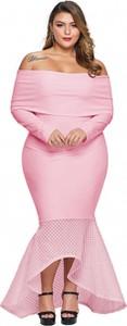 Sukienka Elegrina maxi hiszpanka z długim rękawem
