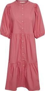 Różowa sukienka Part Two w stylu casual