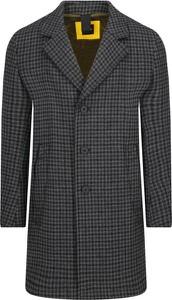 Czarny płaszcz męski BOSS Casual w stylu casual