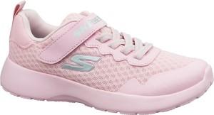 Różowe buty sportowe dziecięce Skechers sznurowane