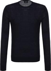 Sweter Armani Jeans ze skóry