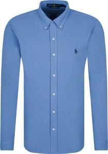 Niebieska koszula POLO RALPH LAUREN z długim rękawem w stylu casual