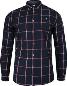 Granatowa koszula Just yuppi z bawełny w stylu casual