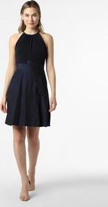 Niebieska sukienka VM bez rękawów z okrągłym dekoltem