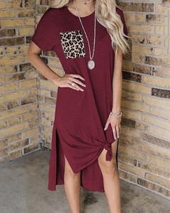 Sukienka Kendallme z okrągłym dekoltem z krótkim rękawem w stylu casual