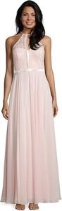 Różowa sukienka Vera Mont bez rękawów maxi z dekoltem w kształcie litery v