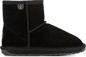 Czarne buty dziecięce zimowe Emu Australia z wełny
