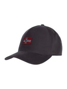 Granatowa czapka Napapijri z bawełny