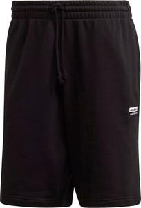 Czarne spodenki Adidas w sportowym stylu z bawełny