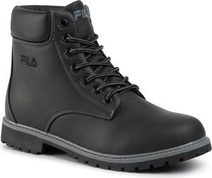 Czarne buty zimowe Fila
