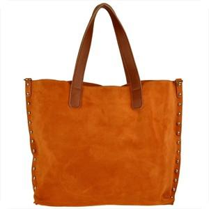 Brązowa torebka Real Leather zamszowa w stylu boho ze skóry
