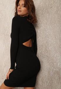 Czarna sukienka Renee z dzianiny dopasowana mini