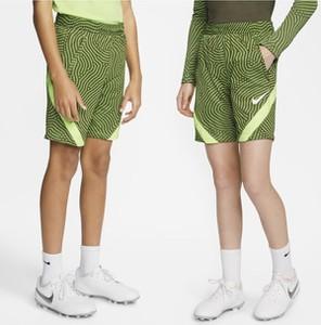 Zielone spodenki dziecięce Nike w paseczki