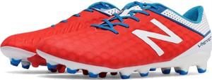 Czerwone buty sportowe New Balance w sportowym stylu sznurowane