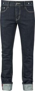 Granatowe jeansy Rock Rebel by EMP z jeansu w street stylu