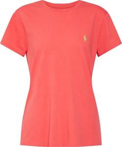 Czerwona bluzka POLO RALPH LAUREN z bawełny z krótkim rękawem w stylu casual