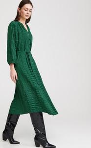 Zielona sukienka Reserved w stylu casual midi