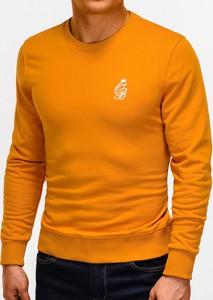 Pomarańczowa bluza Edoti z nadrukiem