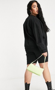 Czarna bluza Asos z dresówki w sportowym stylu