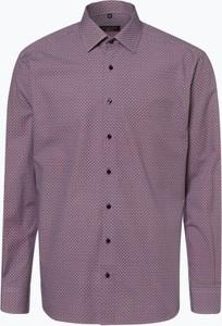 Fioletowa koszula Eterna z długim rękawem z bawełny