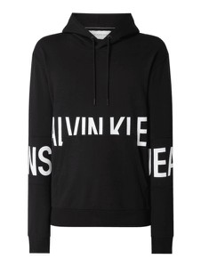 Czarna bluza Calvin Klein w młodzieżowym stylu z bawełny
