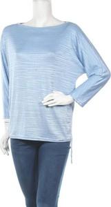 Niebieska bluzka Monnari z długim rękawem z okrągłym dekoltem