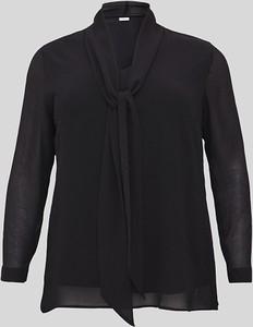 Bluzka YESSICA z długim rękawem z dżerseju z dekoltem w kształcie litery v