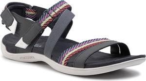 Czarne sandały Merrell na rzepy w stylu casual