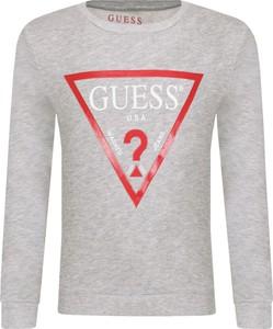 Srebrna bluza dziecięca Guess