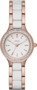 Zegarek DKNY - Chambers NY2496 Rose Gold/White/Clear