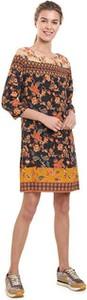 Sukienka Desigual mini z długim rękawem w stylu casual