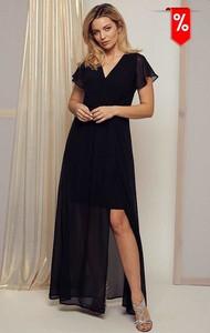 Sukienka Kaskada z krótkim rękawem z dekoltem w kształcie litery v