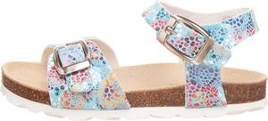 Buty dziecięce letnie Bio Pingüin ze skóry dla dziewczynek na rzepy
