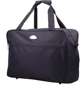 Czarna torba podróżna Kemer z tkaniny