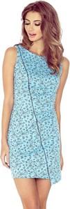 Niebieska sukienka MORIMIA bez rękawów w street stylu mini