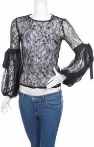 Czarna bluzka Miss Selfridge z okrągłym dekoltem z długim rękawem