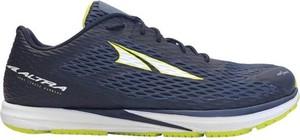 Granatowe buty sportowe Altra w sportowym stylu sznurowane z tkaniny